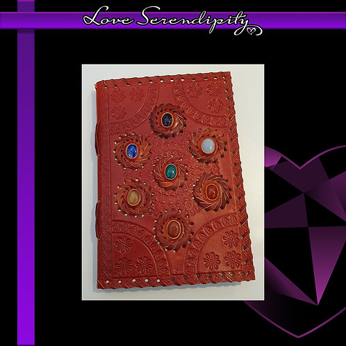 Leather Bound Notebook Chakra