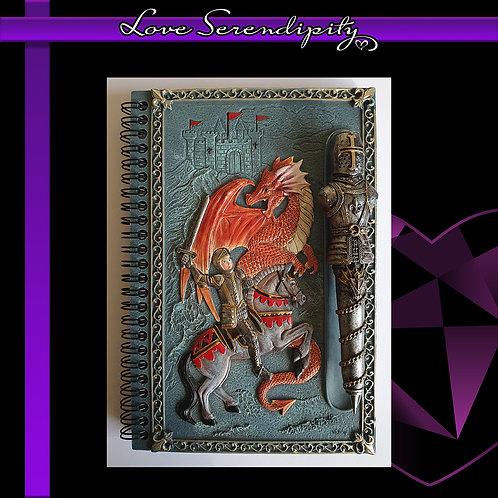 Dragon Slayer Resin Cover Notebook