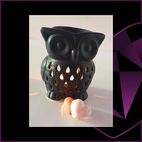 Ceramic Black Owl Wax Melter