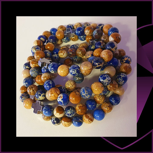 SUPPORT Sodalite and Picture Stone