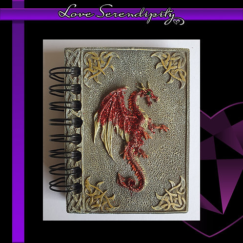 Red Dragon Resin Cover Notebook
