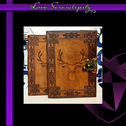 Leather Bound Notebook Stag