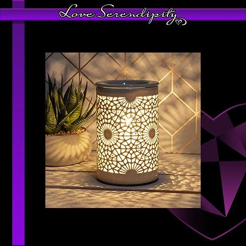 Aroma Lamp Silver Circles