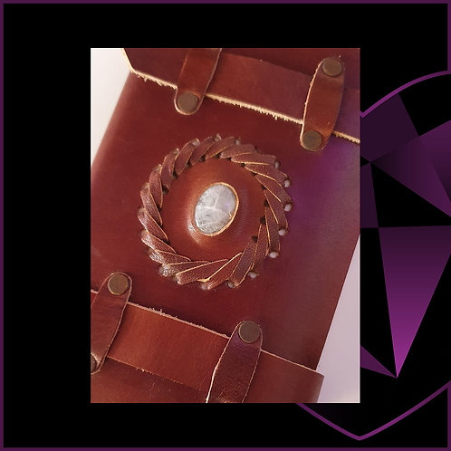 Leather Bound Notebook Moonstone Belts