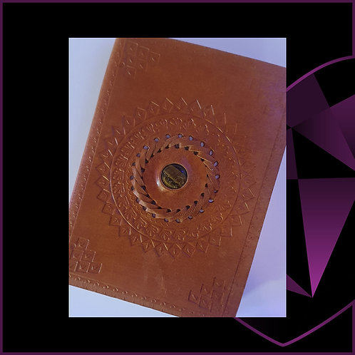 Handmade Leatherbound Notebook Tiger Eye
