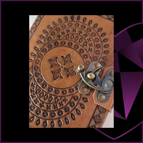 Handmade Leatherbound Notebook Mandala