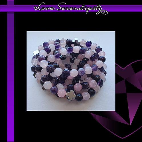 LOVE Amethyst and Rose Quartz