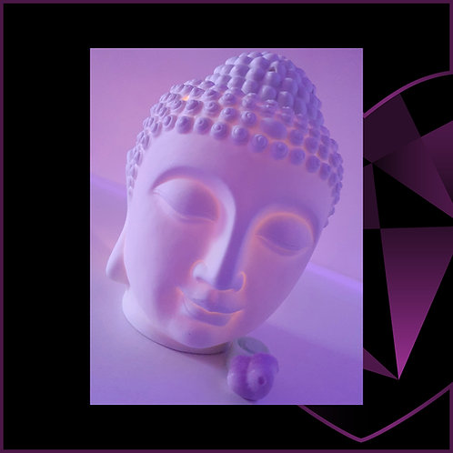 Large Ceramic Buddha Wax Melter White