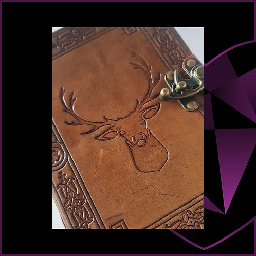 Handmade Leatherbound Notebook Stag