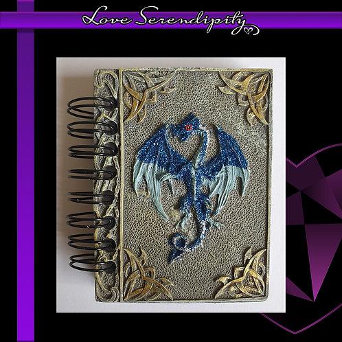 Blue Dragon Resin Cover Mini Notebook