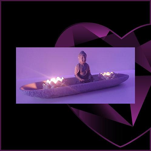 Buddha Lotus Tealight Candle Holder