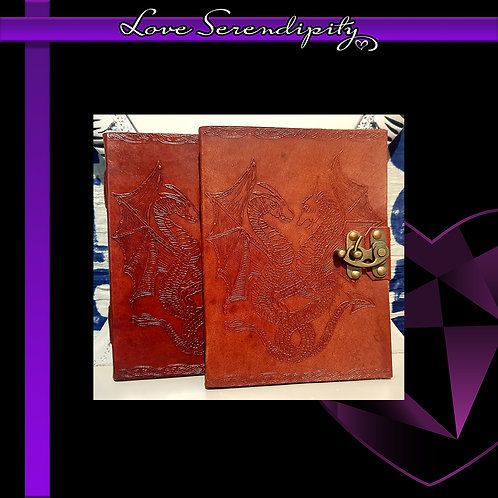 Leather Bound Notebook Dragon