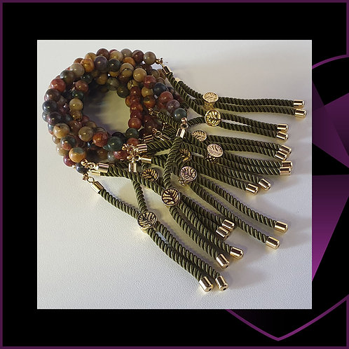 Picasso Jasper Gold Plated