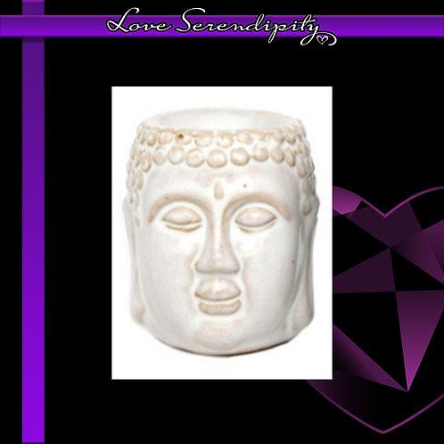 Ceramic Buddha Wax Melter White