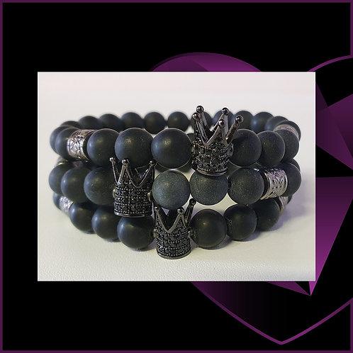 Crystal Crown Black Agate