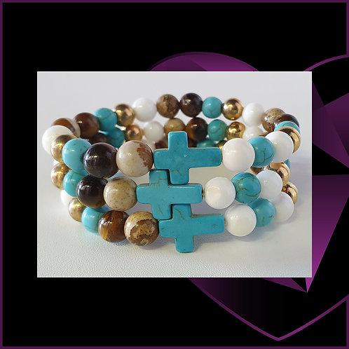 Turquoise Cross Royal Beads