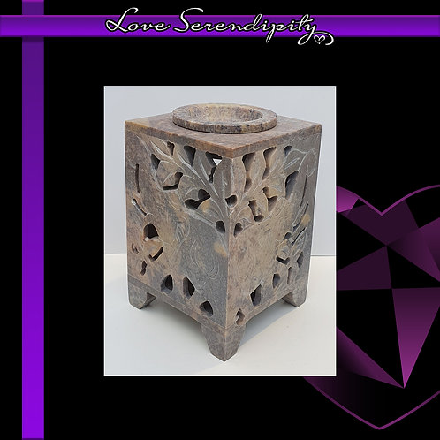 Soapstone Elephant Wax Melter Natural
