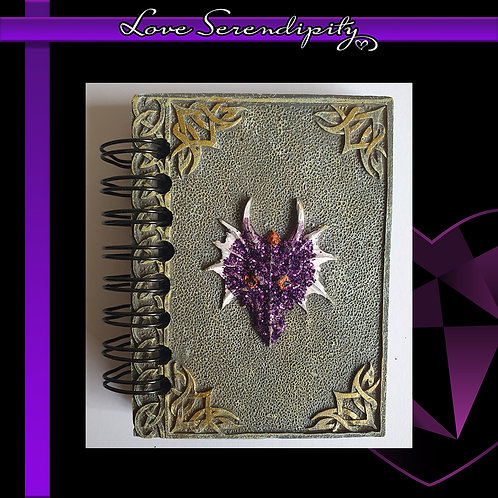 Purple Dragon Resin Cover Notebook
