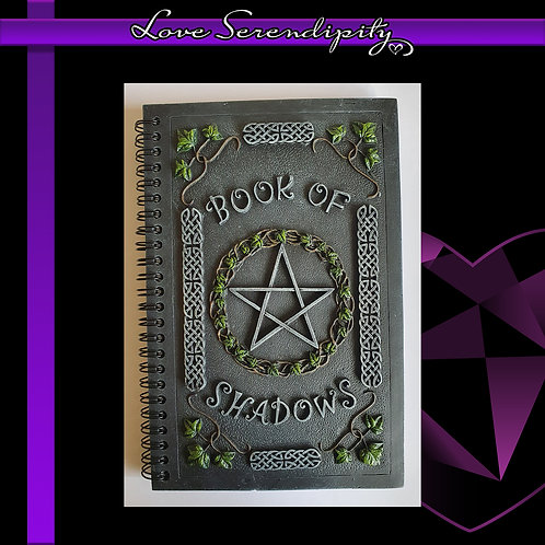 Ivy Book Of Shadows Resin Cover Notebook