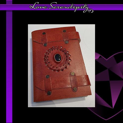 Leather Bound Notebook Black Onyx Belts