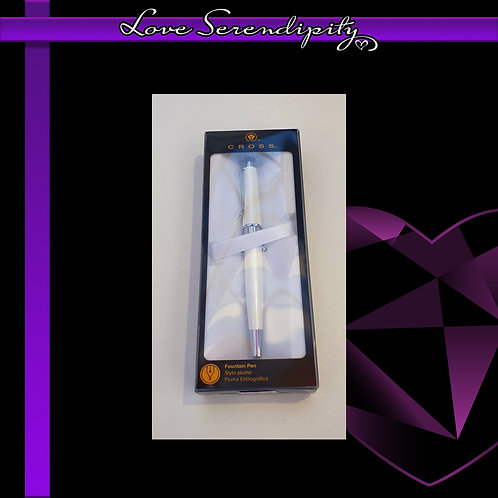 Cross Beverly White Fountain Pen