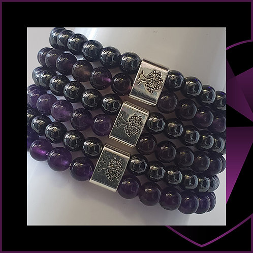 Magnetic Gemstone Bracelet Amethyst