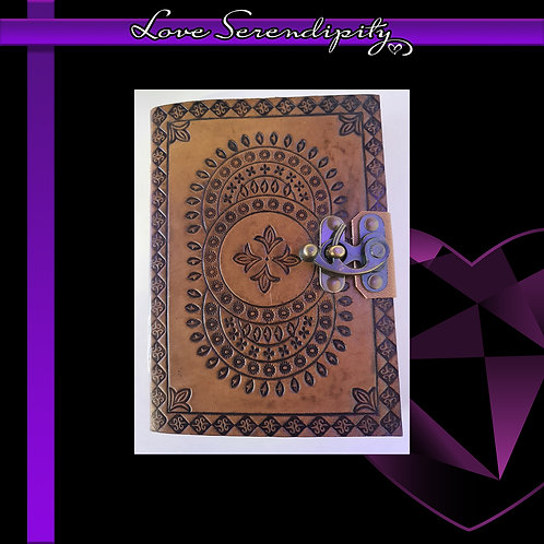 Leather Bound Notebook Mandala