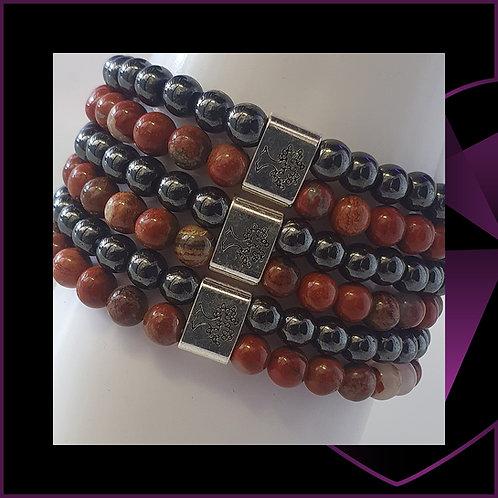 Magnetic Gemstone Bracelet Redstone