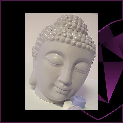 Large Ceramic Buddha Wax Melter Grey