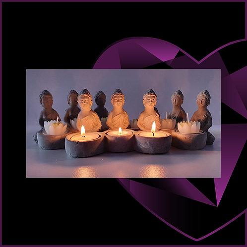 Three Buddha Tealight Candle Holder