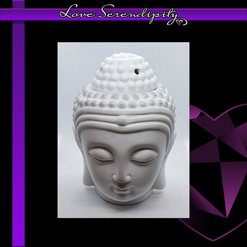 Ceramic Buddha Wax Melter White