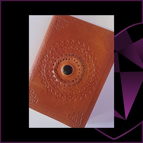 Handmade Leatherbound Notebook Black Onyx