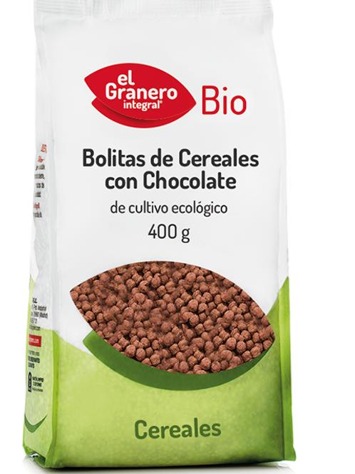 Bolitas de cereales con chocolate 400 gr
