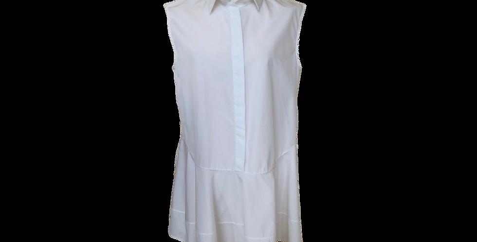 Jil Sander White Cotton Blouse