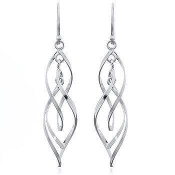 Bunch of Open LeafsSterling Silver Wirework Danglers Earrings