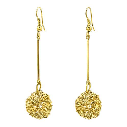 Gold Nest Dangle Earrings