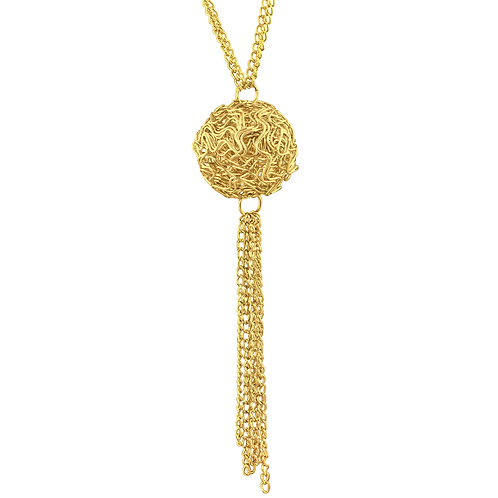 Gold Layering Necklace w/Lobster Nest