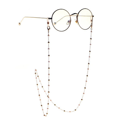 Golden White Pearl Clip Beads Sunglasses Chain