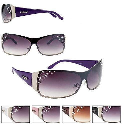 Brown Rhinestones Designer Sunglasses