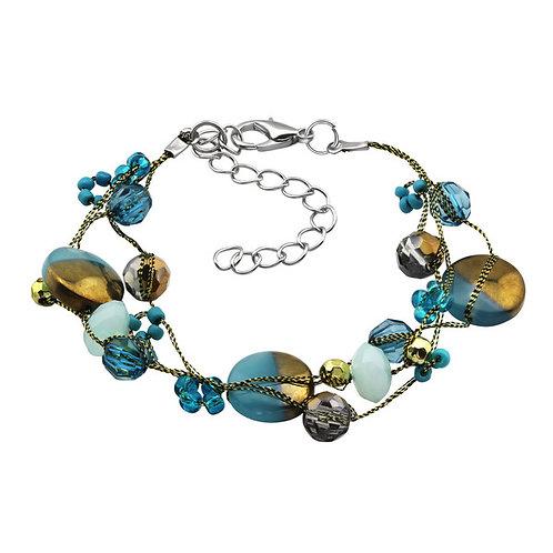 Layering Silver Two-Tone Bead Bracelet