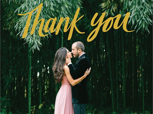 "Thank You Card 5.5""x4"" - #2796405"