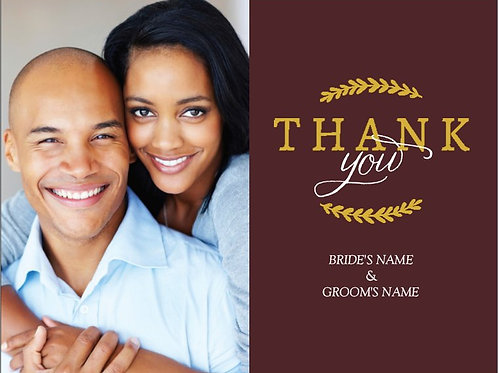 "Thank You Card 5.5""x4"" - #4781300"