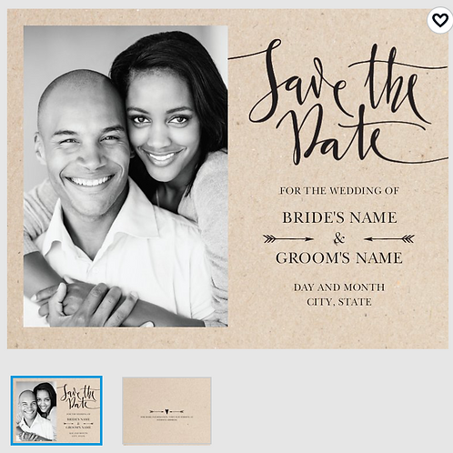 "Save The Date Card 5.5""x4"" - #3308554"