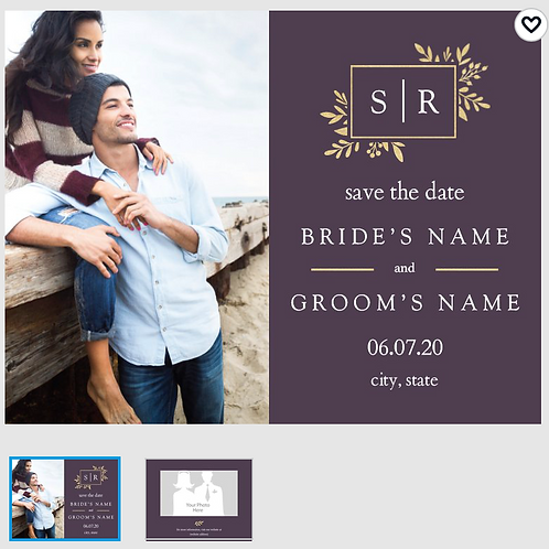 "Save The Date Card 5.5""x4"" - #4077967"
