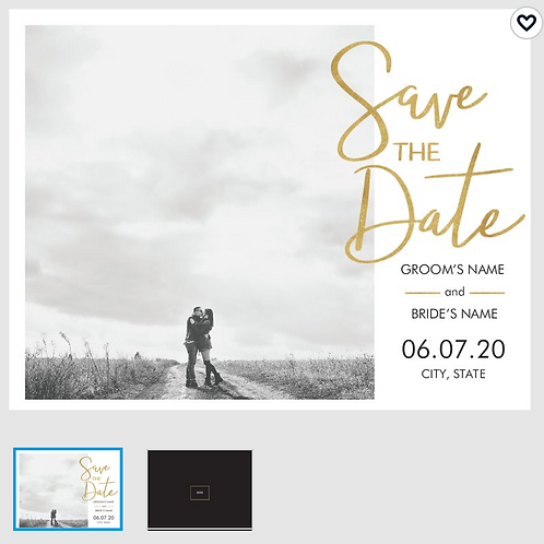 "Save The Date Card 5.5""x4"" - #4733392"