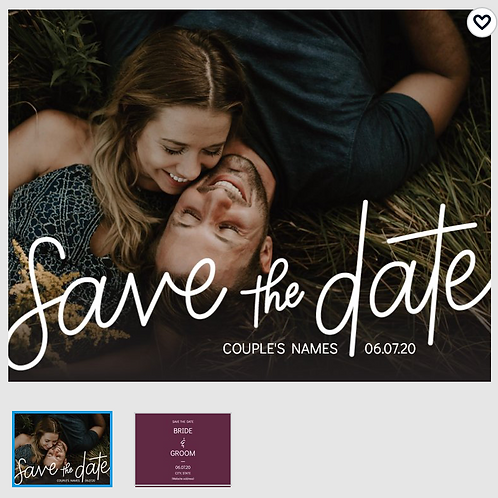 "Save The Date Card 5.5""x4"" - #5462581"