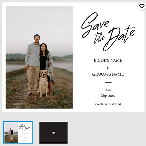 "Save The Date Card 5.5""x4"" - #4756709"