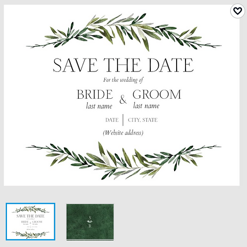 "Save The Date Card 5.5""x4"" - #3252873"