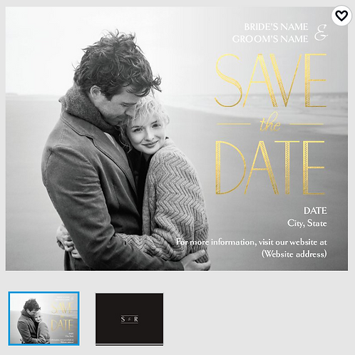 "Save The Date Card 5.5""x4"" - #1871962"