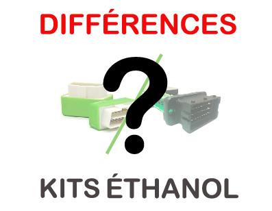 Différences entre kits éthanol